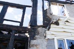 Brandwond uit shell van een gebouw royalty-vrije stock foto