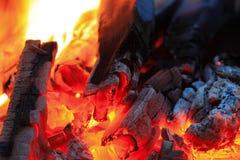 Brandwond van steenkool royalty-vrije stock afbeelding