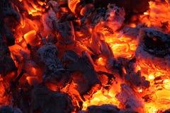 Brandwond van steenkool royalty-vrije stock foto