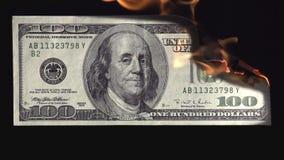 Brandwondengeld stock videobeelden
