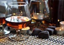 Brandy and chocolate Stock Photos