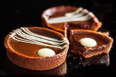 Brandy Chocolate Tarts Royalty Free Stock Image