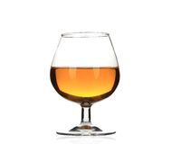 Brandy cognac glass isolated. Stock Images