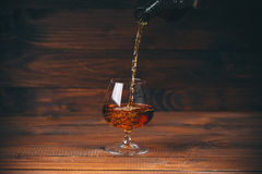 brandy or cognac  in the glass Stock Images