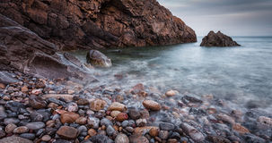 Brandy Cove Gower Swansea image libre de droits
