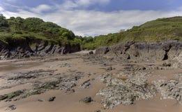 Brandy Cove Gower Swansea het UK stock foto