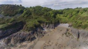 Brandy Cove Swansea van hierboven royalty-vrije stock fotografie