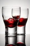 Brandy de la cereza con hielo Imagen de archivo libre de regalías