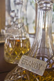 Brandy in Decanter. Brandy in a vintage decanter Royalty Free Stock Photos