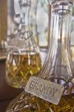 brandy dekantator Zdjęcia Royalty Free