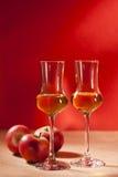 Brandy del Calvados Immagini Stock Libere da Diritti