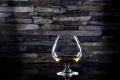 Brandy del coñac en piedra Imagenes de archivo