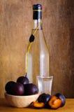 Brandy della prugna Fotografia Stock