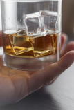 Brandy di turbine in vetro Fotografia Stock Libera da Diritti
