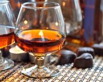 Brandy e dolce Fotografia Stock Libera da Diritti
