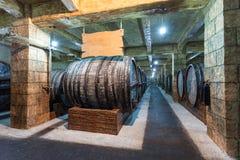 Brandy factory, Yerevan. Wine cellar in Yerevan Brandy Company Ararat Stock Photography