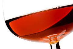 Brandy in glass Stock Photo