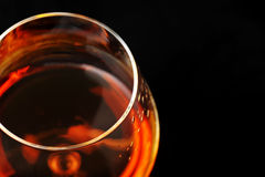 Brandy in glass Royalty Free Stock Photos