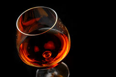Brandy in glass Royalty Free Stock Photo