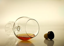 Brandy glass. Royalty Free Stock Photography