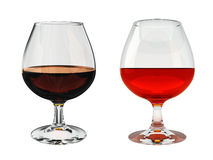 Brandy glass Royalty Free Stock Images