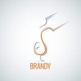 Brandy glass bottle splash background. 8 eps Royalty Free Stock Image