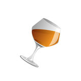 Brandy glass and brandy, Vector Royalty Free Stock Photos