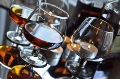 Brandy in a glass Stock Images