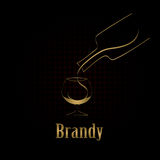 Brandy glass design menu background Royalty Free Stock Photography
