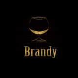 Brandy glass design menu background Royalty Free Stock Images