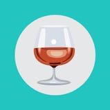 Brandy glass flat design vector Stock Photo
