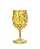 Brandy glass made from sugar palm,clipping path Stock Image