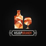 Brandy glass poly design background Stock Photos