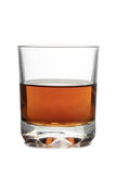 Brandy in glass on white Stock Image