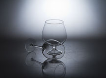 Brandy glasses. Royalty Free Stock Photos