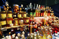 Brandy and honey stall Stock Images