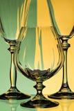 Brandy i wina szkła Obrazy Stock