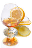 Brandy and Lemon Royalty Free Stock Image
