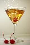 Brandy Manhattan Splash Royalty Free Stock Image