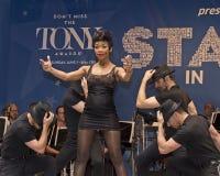 Brandy Norwood führt bei 2015 Sternen in der Gasse durch Lizenzfreies Stockfoto