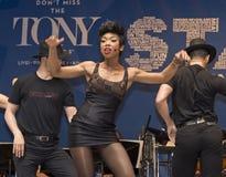 Brandy Norwood se realiza en 2015 estrellas en el callejón Fotografía de archivo