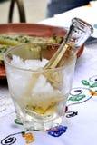 Brandy o acquavite freddo della prugna Immagine Stock Libera da Diritti
