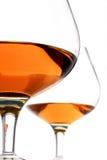 brandy okulary Zdjęcia Stock