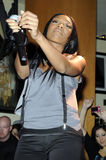 Brandy performing live. Royalty Free Stock Images