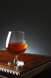 Brandy Snifter on Fancy Table Royalty Free Stock Photo