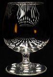 Brandy snifter with reflections Stock Image