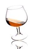 Brandy su bianco Fotografia Stock Libera da Diritti