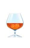 brandy sześcianów szkła lód Zdjęcie Stock