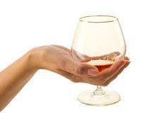 brandy szkło Zdjęcia Royalty Free