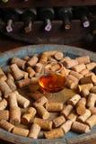 Brandy in a wine cellar Stock Photo